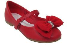 New Baby Toddler Girls Red Dress Shoes Flats Mary Jane Dorothy Christmas Party