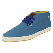 MENS FISH N CHIPS BY BASE LONDON BLUE LACE UP CASUAL ANKLE BOOTS STYLE - ROD