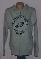Philadelphia Eagles Womens Hoodie Full Zip Sweatshirt Gray - NFL