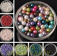 1000PCS Lot Wholesale 4mm 6mm 8mm Glass Pearl Round  Loose Spacer Beads Bulk