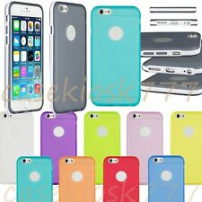 for iphone 6 4.7 inch silicone gel rubber shockproof side hybrid case  cover