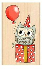 NEW PENNY BLACK RUBBER STAMPS mimi's party gift OWL  wd mnt free usa ship