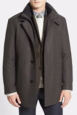 Hugo Boss Mens Current Wool Cashmere Gray Jacket Overcoat Size 42 R US NEW $595