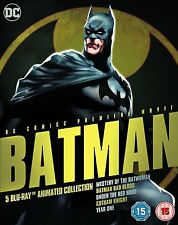 BLU-RAY  BATMAN 5 BLU RAY FILM ANIMATED COLLECTION   NEW SEALED UK STOCK