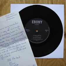 """STRATEGY Technical Overflow RARE Inc WRITTEN LETTER FROM BAND Ebony UK 7"""" 45 NM"""