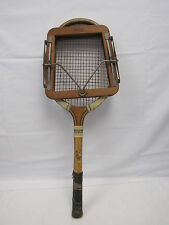 Vintage Dunlop Wooden Tennis Racket with Wooden Press Frame - BAR L21