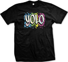 YOLO You Only Live Once Graffiti Song Lyrics Music Funny Mens T-shirt