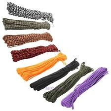 Paracord 550 Parachute Cord Lanyard Rope Mil Spec 100FT Survival Rope 7 S NI5L