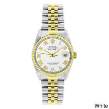 Pre-owned Rolex 16013 Men's Two-tone Stainless Steel and 18k Gold Datejust Watch