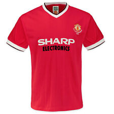 Manchester United FC Official Gift Mens 1983 FA Cup Winners Retro Kit Shirt