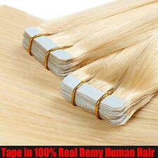 "Tape In 40 Pcs 100g 16""-24"" Skin Weft Long Remy Human Hair Extensions Sale I333"