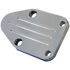 All American Billet FBOSBCBM-P Fuel Pump Block-Off Plate Small Block Chevy Polis