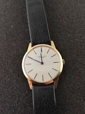 NICE VINTAGE UNIVERSAL GENEVE SOLID 18K GOLD MID SIZE MANUAL WIND WRISTWATCH
