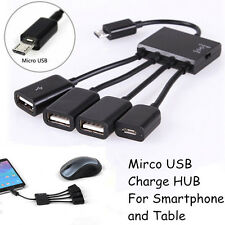 4 in 1 Micro USB OTG Hub Host Adapter Cable For Samsung Galaxy S7 S4 S6 Note 2 4