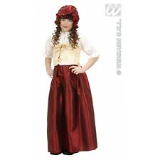 Girls Peasant Girl Costume Outfit for Middle Ages Medieval Fancy Dress