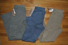 NWT Mens JACHS Flat Front Khaki Green Blue Cargo Pants Choose Size