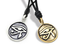 Egyptian Eye of Ra Horus Ankh Silver Pewter Gold Brass Necklace Pendant Jewelry