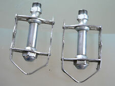 steel quill pedals made in italy roto 1960s GC,bianchi legnano bicycle VINTAGE