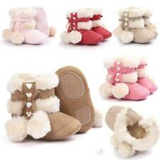 Winter Baby Girl Soft Sole Booties Snow Boots Infant Toddler Newborn Crib Shoes