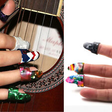 2Pcs Finger Cover Forefinger Thumb Picks Guitar Plectrum Celluloid Guitar Random