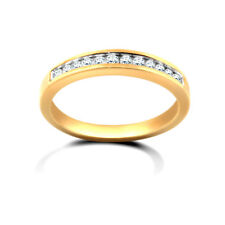 Jewelco London 9ct Gold Diamond Dainty Band Eternity Ring 25pts