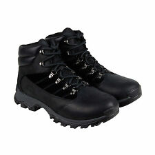 Timberland Rangeley Mid Mens Black Leather Hiking Lace Up Boots Shoes