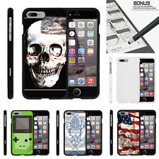 "For Apple iPhone 7 Plus (5.5"") Case Hard Snap On 2 Piece Slim Shell USA Skull"