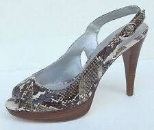 MARC FISHER PENELOPE SNAKE LEATHER SLINGBACKS HEELS sz 6.5,9,10 NEW AUTHENTIC