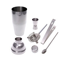 5 Pieces Stainless Steel Cocktail Shaker Mixer Drink Bartender Kit Bars Set Tool