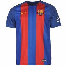 Nike FC Barcelona Home Jersey 2016 2017 Mens Royal/Red Football Soccer Top Shirt