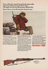 1966 Remington Model 700 Bolt Action Hunting Rifle Photo Vintage Print Ad