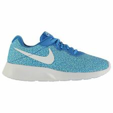 Nike Tanjun Print Sports Lifestyle Trainers Womens Blue/Blue Sneakers Shoes