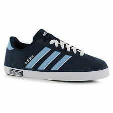 Adidas Derby Suede Trainers Mens Navy/Blue/White Casual Sneakers Shoes Footwear