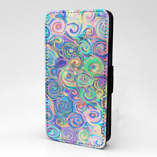 Swirls Art Print Design Pattern Flip Case Cover For Apple iPhone - P817