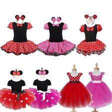 Kids Girls Baby Minnie Mouse Outfits Party Costume Tutu Dress Halloween Cosplay