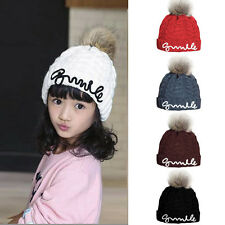 Baby Toddler Boy Girl Winter Warm Hats Beanie Crochet Knitted Woolen Earflap Cap