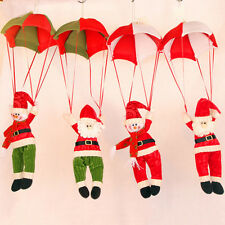 1 PC Christmas Tree Hanging Decor Parachute Xmas Snowman Santa Claus Ornaments