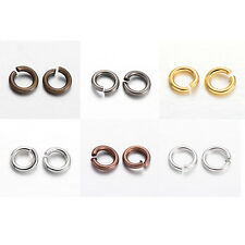 50g 4mm 5mm 6mm 7mm 8mm Brass Open Jump Rings Connectors Jewelry Making Findings