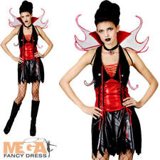 Wicked Vamp Fairy Ladies Halloween Fancy Dress Adults Vampiress Costume Outfit