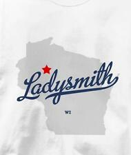 Ladysmith, Wisconsin WI MAP Souvenir T Shirt All Sizes & Colors