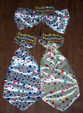 BIG Clown ties,super size bow or neck tie,polka dots,circus,Age 8+,Halloween