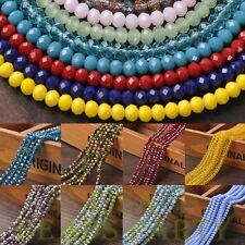 100pcs 6X4mm Rondelle Faceted Loose Spacer Crystal Glass Beads Wholesale Bulk