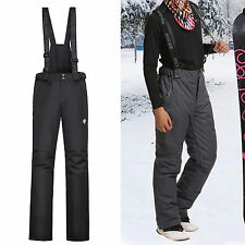 Mens Ski Pants Snowboard Trousers Insulated Winter Waterproof Salopettes Skiing