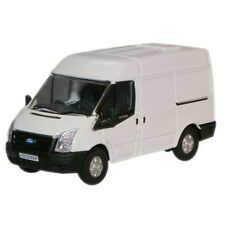 1:76 Frozen White Oxford Diecast New Ford Transit M. Roof Van - Model ()