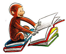 """6-10"""" CURIOUS GEORGE MONKEY WALL SAFE STICKER BORDER CUT OUT CHARACTER"""