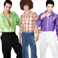 Disco Flares Mens 1970s Fancy Dress Adult 70s Seventies Costume Flared Trousers