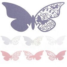 50pcs Wine Glass Name Place Card Wedding Party Laser Cut Butterfly Table Decor