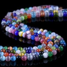 50Pcs Mixed Color Gemstone Opal Beads Loose Spacer Bead Jewelry Findings 4-12mm