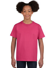 NEW BLANK PLAIN TSHIRT - Girls Hot Pink - 100% cotton - Size S, M, L, XL