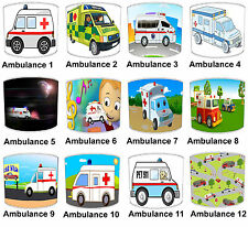 Lampshades Ideal To Match Children`s Ambulance Duvets & Ambulance Wall Decals